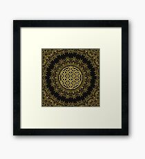 Flower Of Life Mandala Framed Print