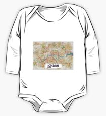 Watercolor Map of London One Piece - Long Sleeve
