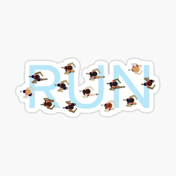 Keep on Running! Sticker