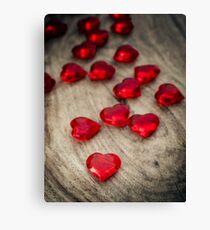 Love Hearts Canvas Print