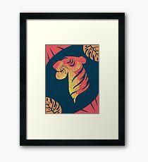 Shere Khan Silhouette Framed Print