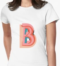Chunky vibrant alphabet Womens Fitted T-Shirt