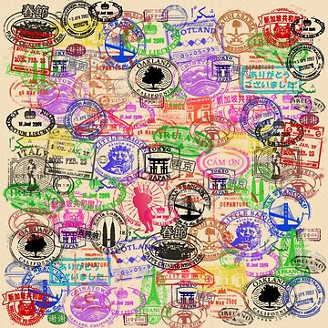 Vintage Passport Stamps  by JCDesignsUK