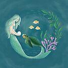 Mermaid's Gift to the Sea Turtle by Vetmari