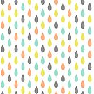 Coloured Water Drops - Baby Pattern 4 by OOMPHDESIGNPRIN