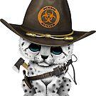 Netter Schnee-Leopard Cub Zombie Hunter von jeff bartels