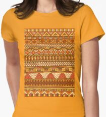 African Pattern Womens Fitted T-Shirt