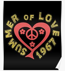 Summer of Love 1967 Heart Poster