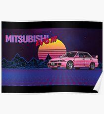 Póster Mitsubishi EVO III