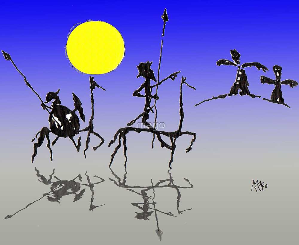Don Quijote y Sancho Panza - Digital color by mago