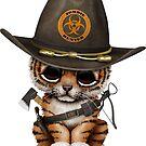 Netter Tiger Cub Zombie Hunter von jeff bartels