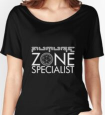FUTURE ZONE SPECIALIST - THE CRYSTAL MAZE - Classic Retro TV Game Show Women's Relaxed Fit T-Shirt