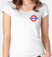 Baby on Board - Underground Logo Women's Fitted Scoop T-Shirt