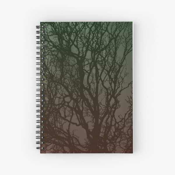 Ombre branches Spiral Notebook