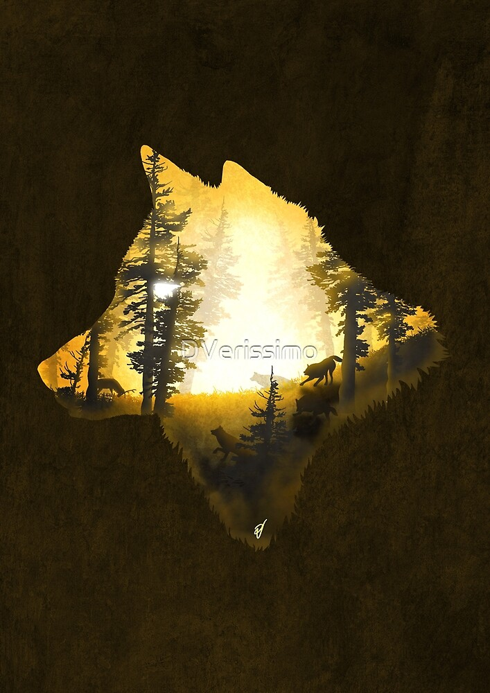 Yellow Wolf by DVerissimo