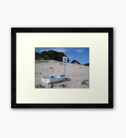 Boating Prohibited! - Rottnest Island 5 Framed Print