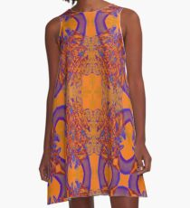 Recycled Smoke Abstract Design A-Line Dress