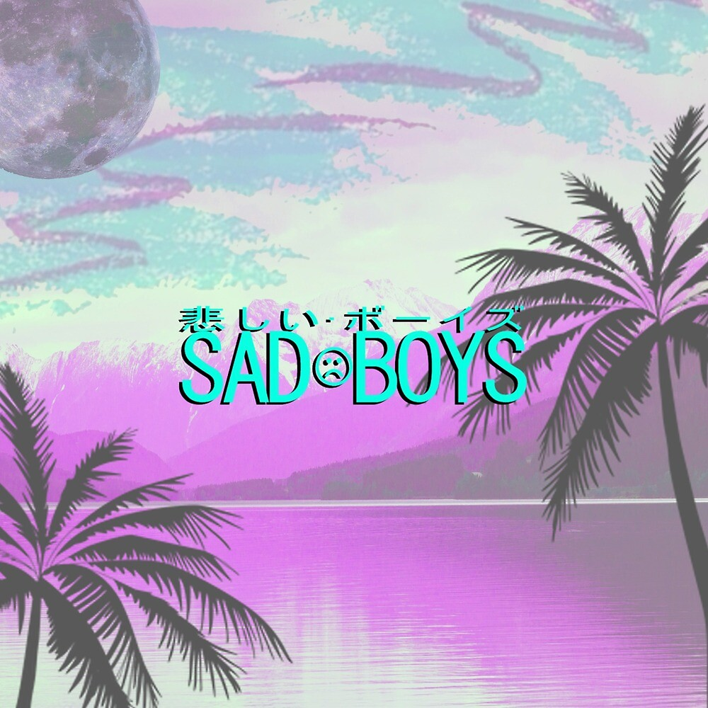 """Sad Boys Tropical Vaporwave Aesthetic Art"" by ..."