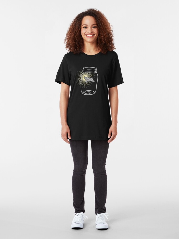 Alternate view of Firefly in a jar Slim Fit T-Shirt