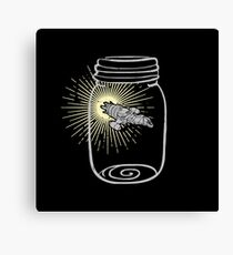 Firefly in a jar Canvas Print