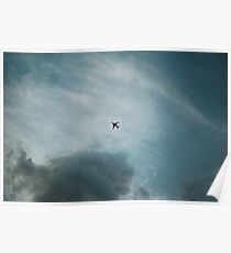 Airplane in the sky Poster