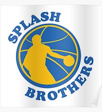 Stephen Curry And Klay Thompson Splash Brothers  Poster