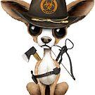 Netter Chihuahua-Welpen-Zombie-Jäger von jeff bartels