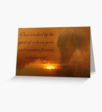 Horse Memorial Spirit Horse Greeting Card