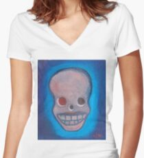 love skull 6 Women's Fitted V-Neck T-Shirt