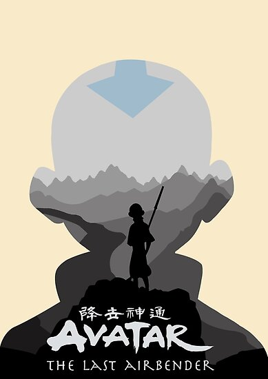 avatar the last airbender aang posters by ninjaatticus redbubble