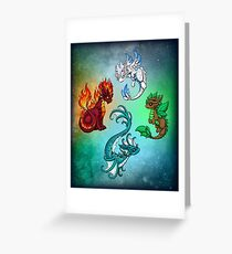 Four Elements - Dragons Greeting Card