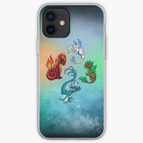Four Elements - Dragons iPhone Soft Case