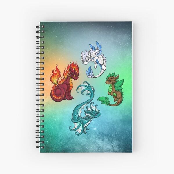 Four Elements - Dragons Spiral Notebook