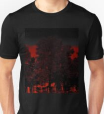 Cold touch of death begins to chill your spine..Taste your blood as it trickles through the air..Another casualty beyond the shadows you fall..Fatality, reality, You await the final call Unisex T-Shirt