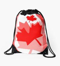 A Canadian Flag Wave Drawstring Bag