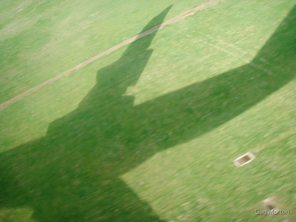 Aircraft shadow by Guy Morton