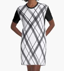 Black and White Painted Diamonds 1 Graphic T-Shirt Dress