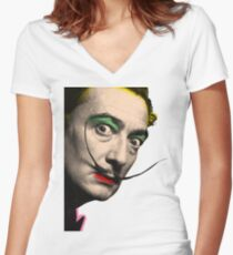 Salvador Dali Women's Fitted V-Neck T-Shirt