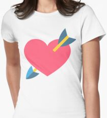 Heart with Arrow Emoji Womens Fitted T-Shirt