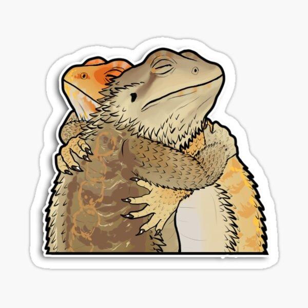 Hugging Bearded Dragons Sticker