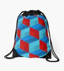 Cube Pattern I Drawstring Bag
