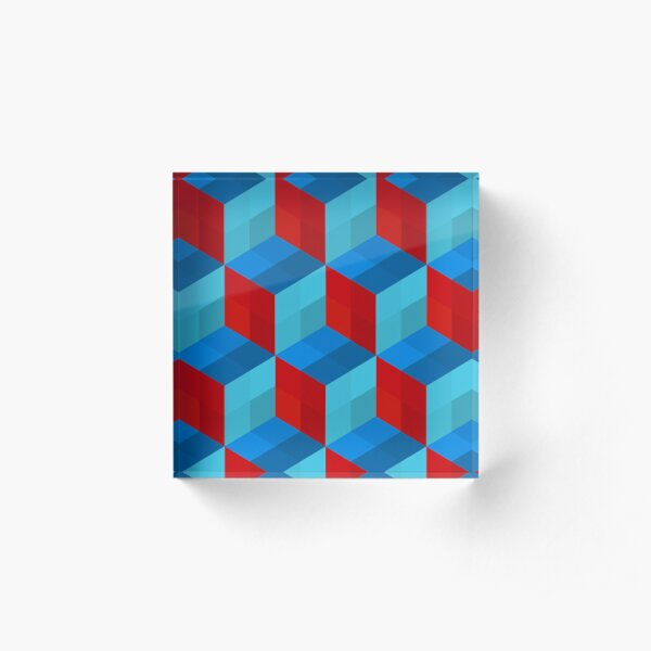 Cube Pattern I Acrylic Block