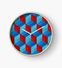 Cube Pattern I Clock