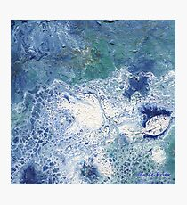 Blue Granite Abstract Photographic Print