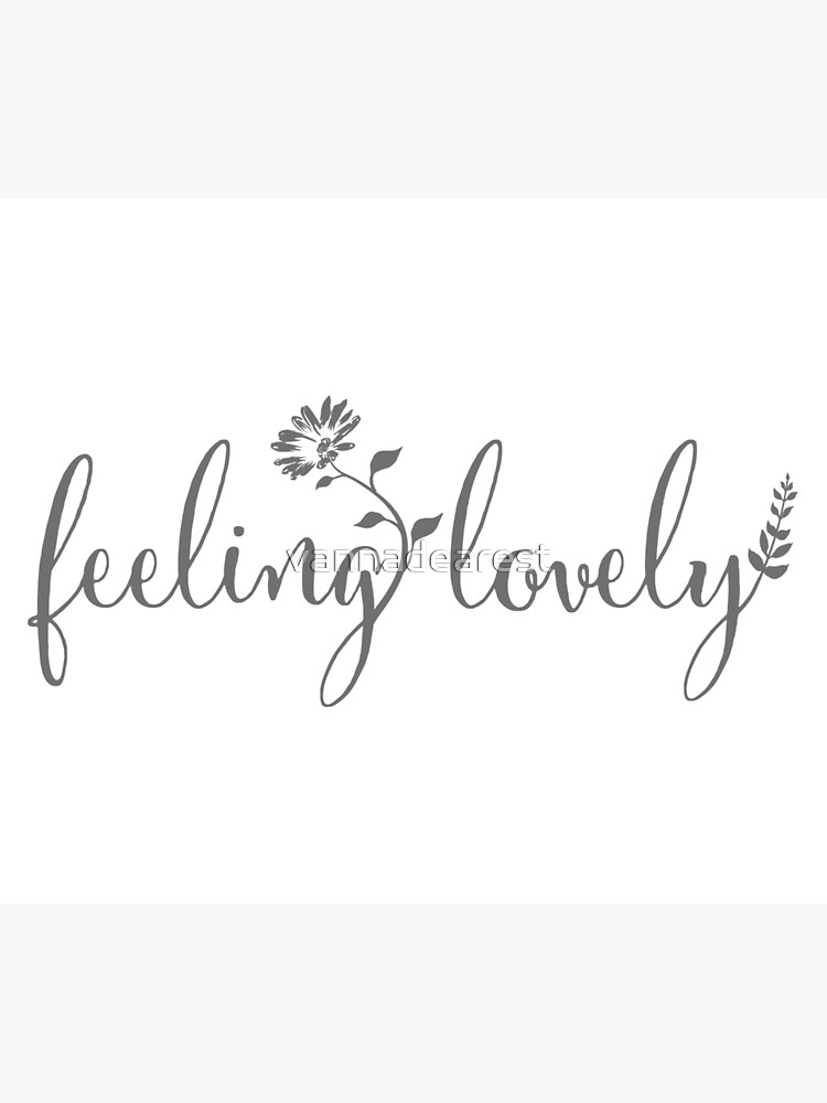feeling lovely | grey floral | Photographic Print