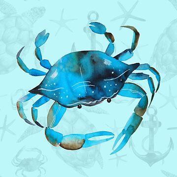 Blue Crab by lenorelocken