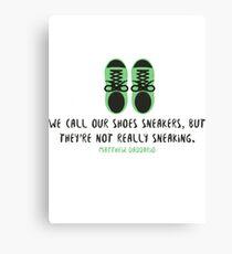 Sneakers - Matthew Daddario Canvas Print