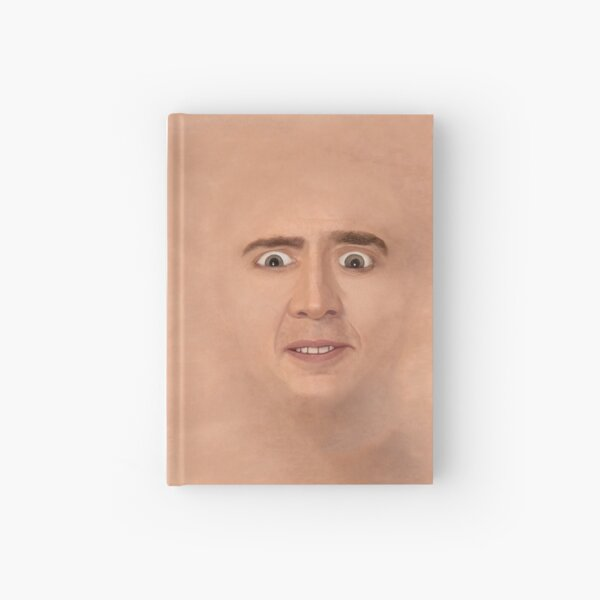 Creepy Cage Face Hardcover Journal