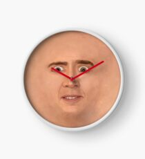 Creepy Cage Face Clock