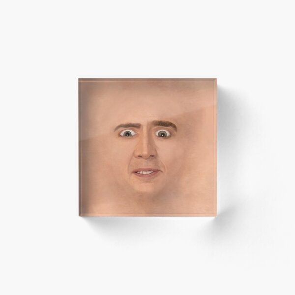 Creepy Cage Face Acrylic Block